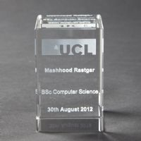 UCL Engraved Glass Paperweight